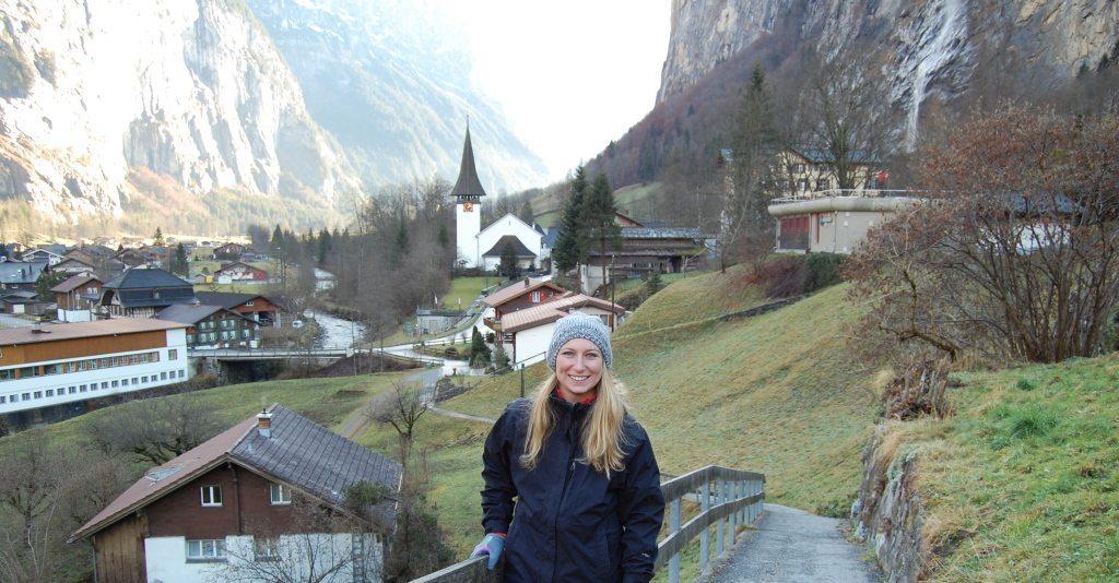 [Chantel Mattiola] [Lauterbrunnen, Switzerland, Meet a Traveler-Lesbian Travel Guide- DopesOnTheRoad.com