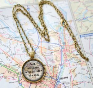 Not All Those Who Wander Are Lost LivinFreely 10 Pieces of Travel Jewelry To Inspire Wanderlust at Home- Lesbian Travel Guide- DopesOnTheRoad.com