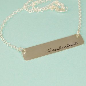 Silver Statements Wanderlust Bar Necklace-10 Pieces of Travel Jewelry To Inspire Wanderlust at Home- Lesbian Travel Guide- DopesOnTheRoad.com