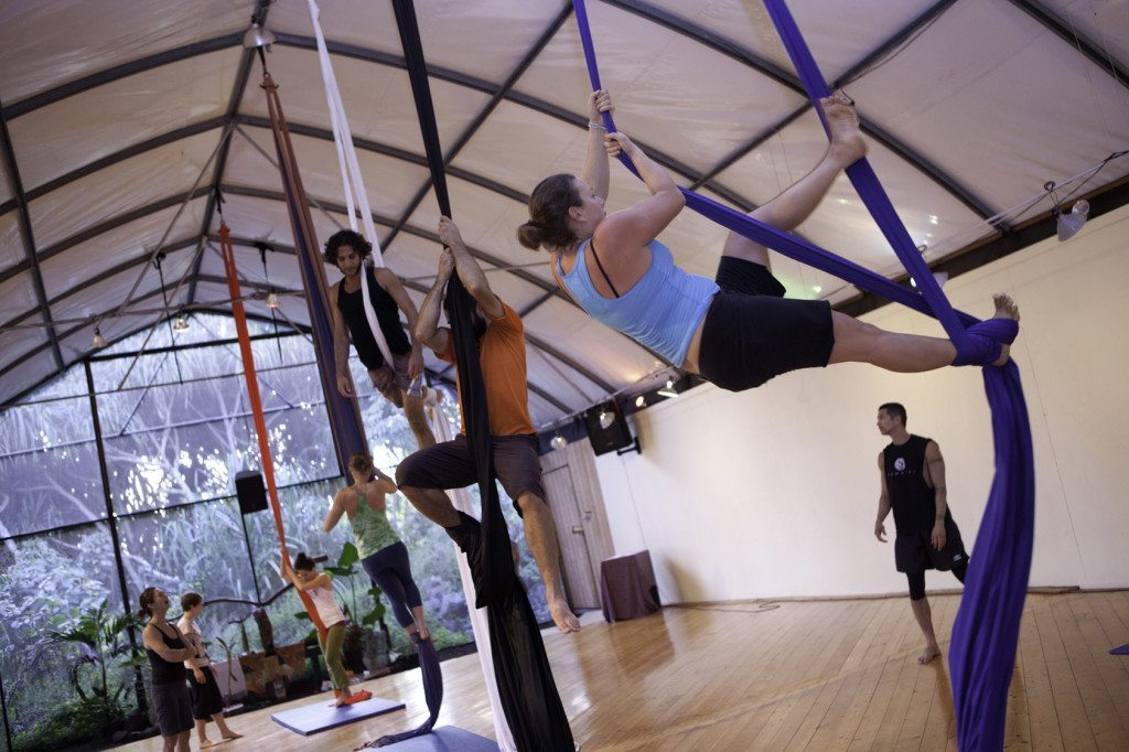 Emax - aerial silks-LGBTQ Getaway; Kalani Oceanside Retreat- Lesbian Travel- DopesOnTheRoad.com
