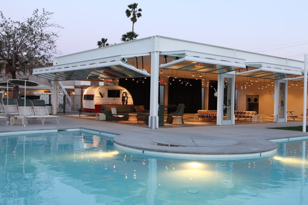 Pool- Ace Hotel- Palm Springs-Lesbian Travel- DopesOnTheRoad.com