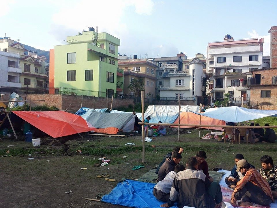 Nepal Earthquake tent homes