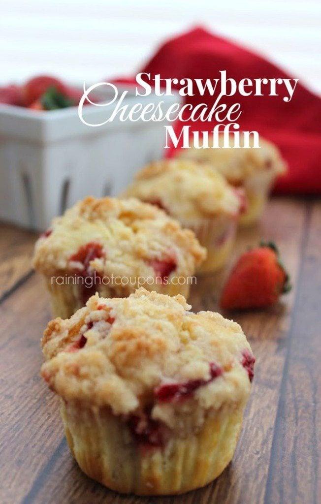 Brunch-recipes-Strawberry-Cheesecake-Muffins