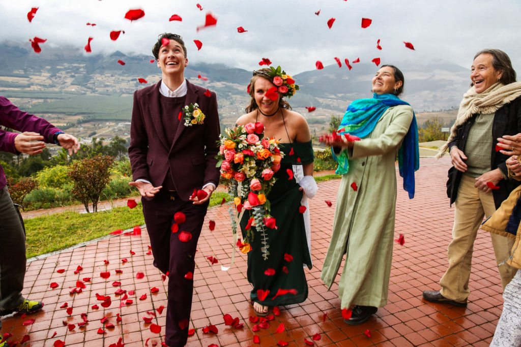 The wedding photos of Meg and Lindsay Cale in Ecuador.