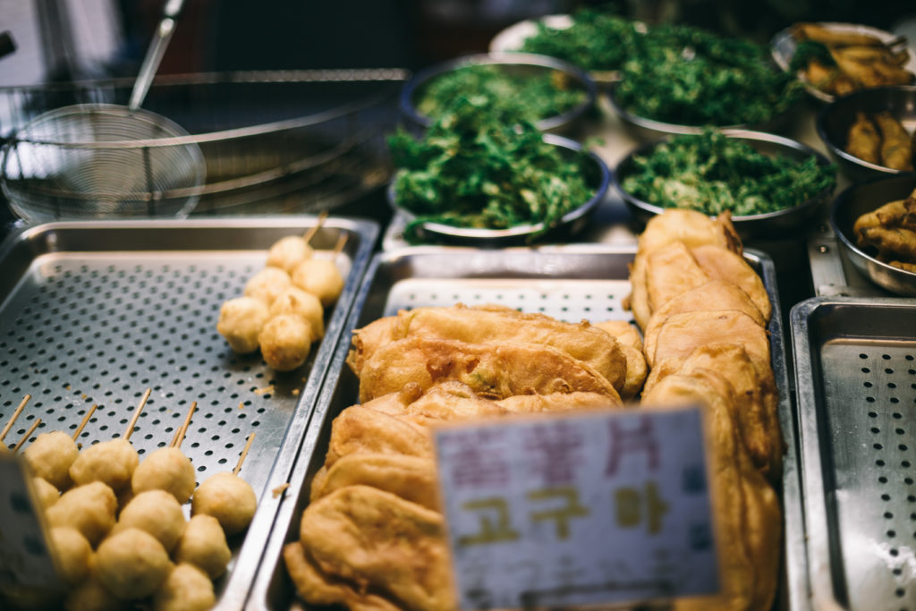 Street Food in a Taiwan Market